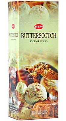 おもしろい圧力勝者HEM(ヘム)社 バタースコッチ香 スティック BUTTERSCOTCH 6箱セット