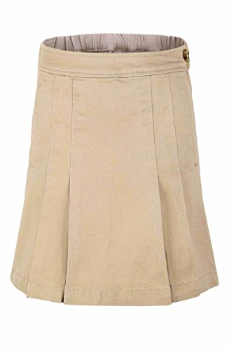 Bienzoe Girl's Stretchy Twill School Uniforms Pocket Scooter Skirt