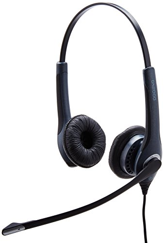 Jabra 20001-491 GN 2000 USB Duo MS Lync Optimized Headset for Softphone -