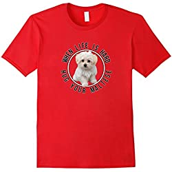 Maltese Dogs Lovers Tshirt Gift Love Cute Quote Hug Puppy