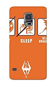 Hot Snap-on Eat Sleep Slay Dragons Hard Cover Case/ Protective Case For Galaxy S5