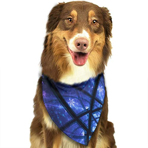 (WUGOU Dog Bandana Space Line Star Sky Cute Pet Pack Washable Triangle Bibs Scarfs Kerchief Set Accessories for Dogs and)
