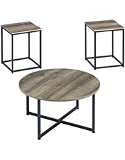 Ashley Furniture Signature Design - Wadeworth Occasional Table Set - Set of 3 - Distressed Style - Two-Tone