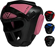 RDX Pro Headgear Boxing MMA Muay Thai, Removable Face Grill, Head Guard Sparring Grappling Martial Arts, Full