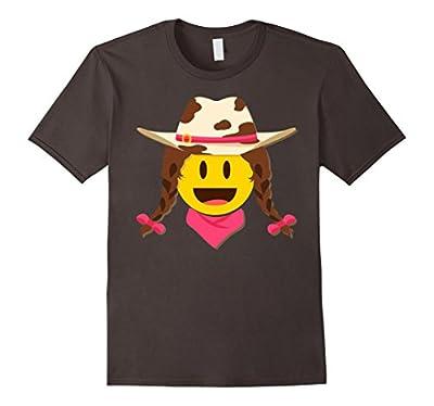 Cute Cowgirl Emoji Halloween Costume Shirt