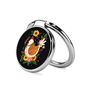 Amazon.com: Flower Hen Painting Phone Ring Stand Holder