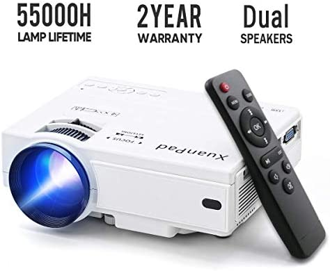 XuanPad Mini Proyector Multimedia Vídeo Proyector LCD, 55000 Horas ...