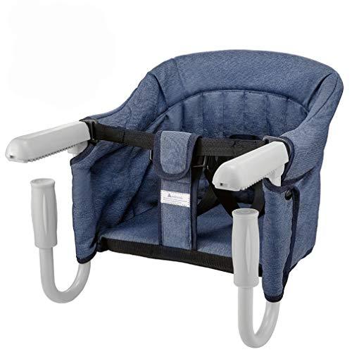 Mesa Asiento de mesa para bebe – plegable Trona de Viaje Arnes de 5 puntos, Sillita para bebe ajustable a la mesa