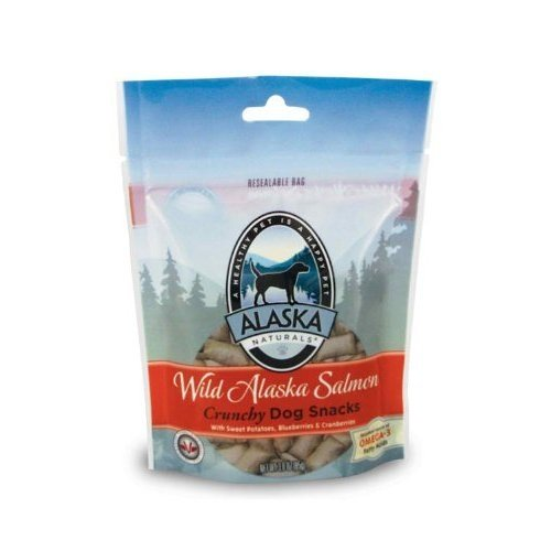 Alaskan Salmon Oil Wild Alaska Salmon Crunch Treats Dog Snack, 3-Ounce Bag, My Pet Supplies