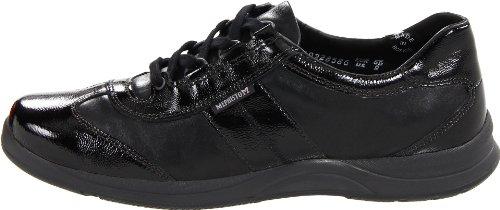 Damen LASER Black Patent Smooth Crinkle Sneakers Mephisto STYLBUCK 5400 RpWUtqt