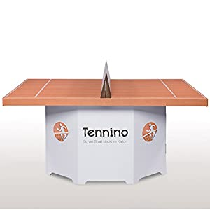 Kickpack - Papp-Tenniscourt / Minitennis Tennino, weiß