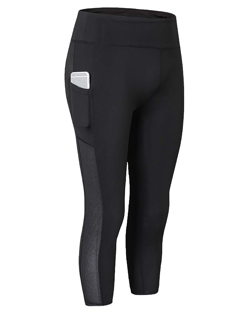 DaobaWOMEN Donna Pantaloni Yoga Fitness Vita Alta Palestra Sportivi 3//4 Leggings Leggins