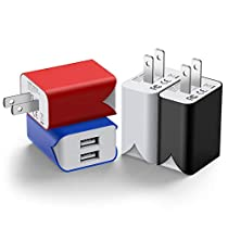 USB 充電器 【4個セット】 usb コンセント PSE認証 2USBポート...