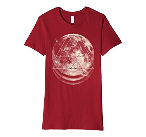Sacred Geometry Shirt - Triangular Overlays Moon