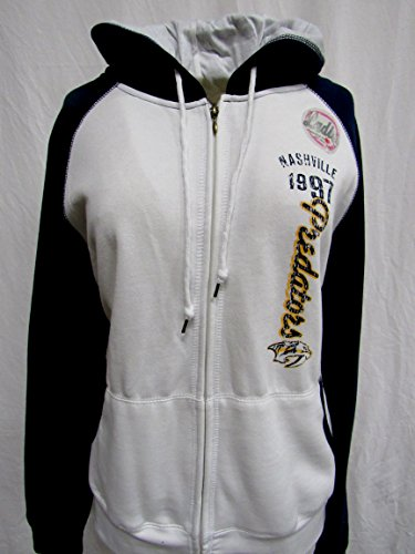 - A-Team Apparel Nashville Predators Ladies Size Small Screen Printed Full Zip Hooded Sweatshirt AB1 1077