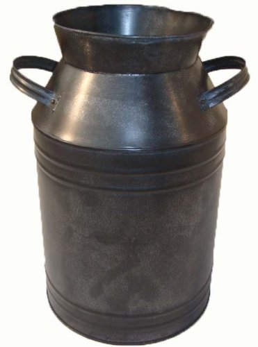 (Craft Outlet Milk Can Container, 13.75-Inch, Black)