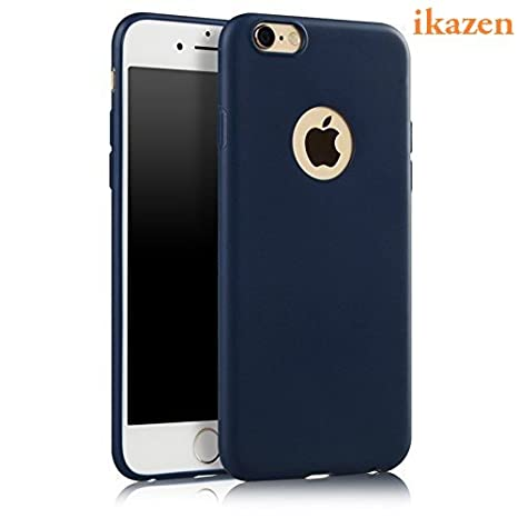 size 40 1ffad eb27a ikazen Soft Silicone TPU Matte Ultra Thin Camera Protection Case for Apple  iPhone 6 Plus (Blue)