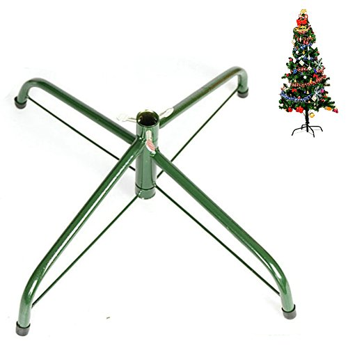 Elfjoy Christmas Tree Stand 13.8 inches Iron Metal Bracket Rubber Pad with Thumb screw(35cm) by Elfjoy