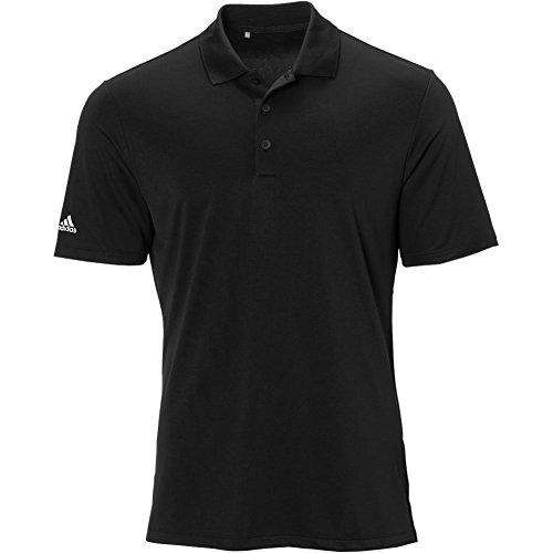 adidas Golf Mens Performance Polo Shirt, Black, Large