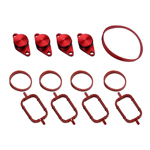 (Boddenly Swirl Flap Blanks Bungs Intake Gaskets Repair Replacement Kit for BMW 320d 330d 520d 525d 530d with Intake Manifold Gaskets, Swirl Flap Engines & Components)