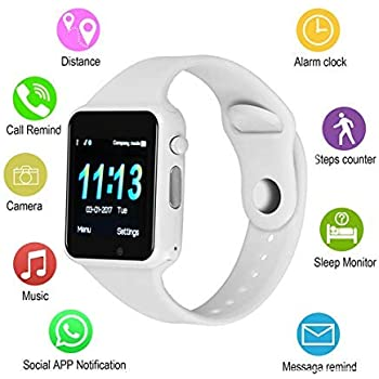 Amazon.com: Smart Watches, IOQSOF Touchscreen Bluetooth ...