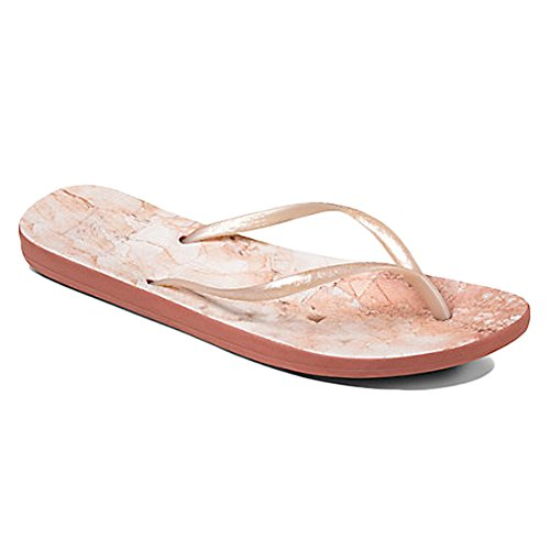 Reef Escape Lux Prin Black Marble, Chanclas para Mujer Pink