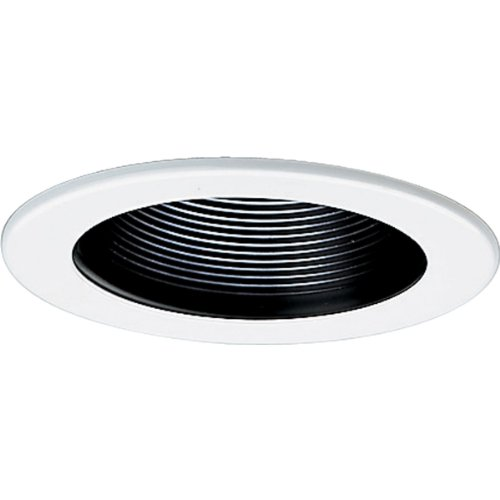 Progress Lighting P8044-31 Transitional One Light Step Baffle Trim Collection in Black Finish, 5-Inch Diameter