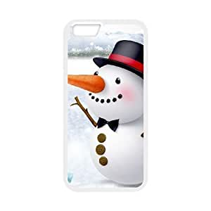 iphone6 4.7 inch White phone case Funny Snowman Picture OLP4808131