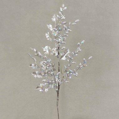 工場直接クラフトパッケージの4のシルバーの人工フローラルSprays Glittery Holly Leaves and Berrie B00I0I5X6A