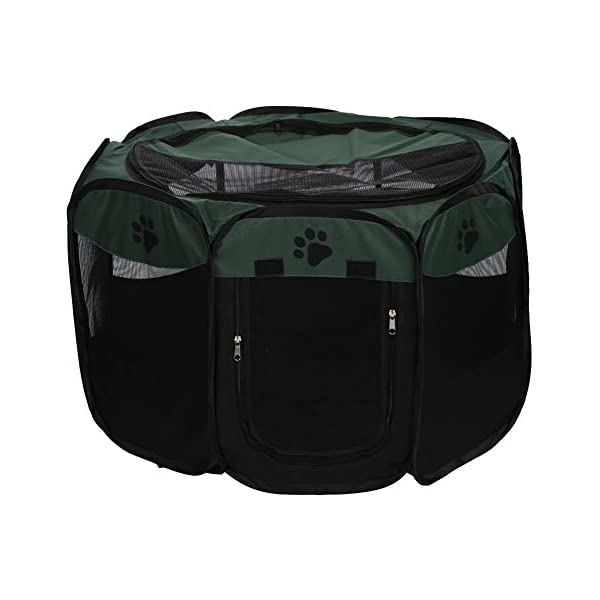 Childplaymate Folding Portable Pet Tent Playpen Exercise Play Dog Fence Puppy Kennel Green Click on image for further info. 3