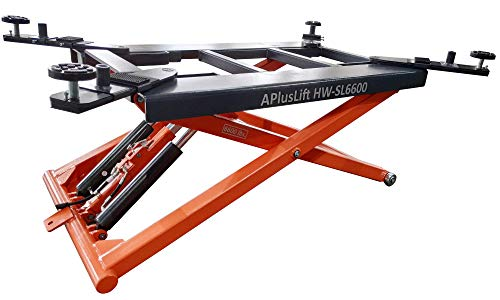 APlusLift HW-SL6600 Mid Rise 6600LB Auto Scissor Lift 110V / 5 Year Structural Parts Warranty ()