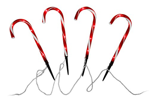 Ornate Lighting Co. Candy Cane 12-foot Path Lights - Set of 10