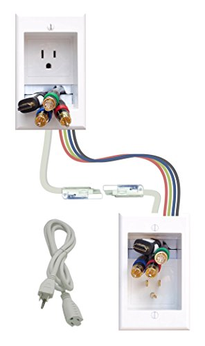 PowerBridge Solutions ONE-CK-36 In-Wall Cable Management for Wall-Mount TVs, 36' PowerConnect Cable