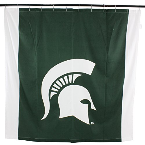 - College Covers NCAA Michigan State Spartans Big Logo Shower Curtain, Green, 72