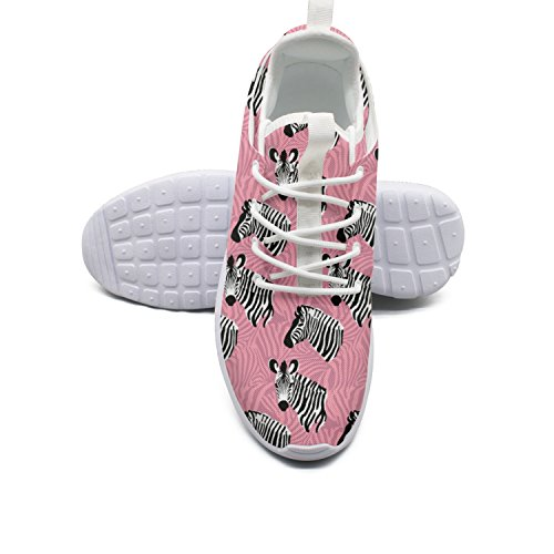 Women Head for Zebra Wide Background Pink Shoes Running ERSER Pgfqx