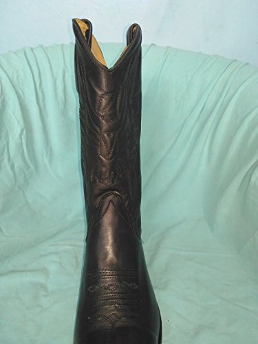 e86e8147875 Loblan 194 Black Waxy Leather Cowboy Boots Hand Made Classic Unisex ...