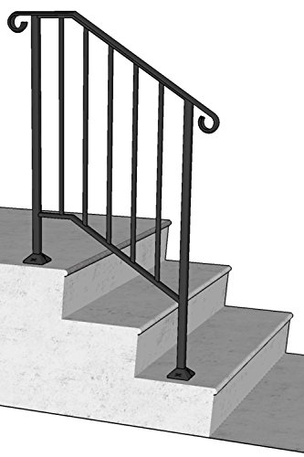 DIY Iron X Handrail Picket #2 Fits 2 or 3 - Rail Stair