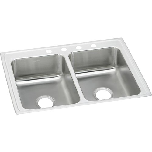 Elkay LR25193 Lustertone Classic Equal Double Bowl Stainless Steel Drop-in Sink