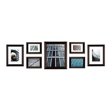 Create a Gallery Snapshot 7-Piece Walnut Frame Set