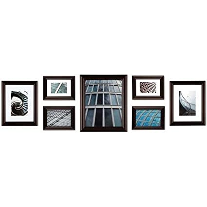 Amazon.com: Create a Gallery Snapshot 7-Piece Walnut Frame Set: Home ...