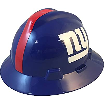 MSA 10194775 NFL V-Gard Full Brim Hard Hat, New York Giants