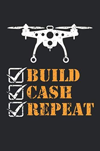 Build Cash Repeat: Drohnenpilot Fernbedienung Flieger  Notizbuch liniert DIN A5 - 120 Seiten für Notizen, Zeichnungen, Formeln   Organizer Schreibheft Planer Tagebuch (Weibliche Flieger)