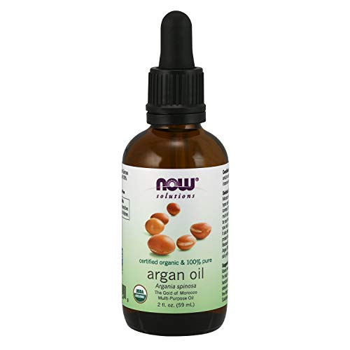 Now Solutions, Organic Argan Oil, Certified Organic and 100% Pure,'Gold of Morocco' Multi-Purpose Oil, 2-Ounce