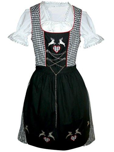 Dirndl World Womens Di18sw, German Bavarian 3 Piece Mini Dirndl Dress for Oktoberfest, Blouse, Apron, Size (German Beer Maid Outfit)