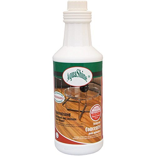 AquaShine Concentrated Hardwood &; Laminated Floors Cleaner 32oz - 2 pack by ()