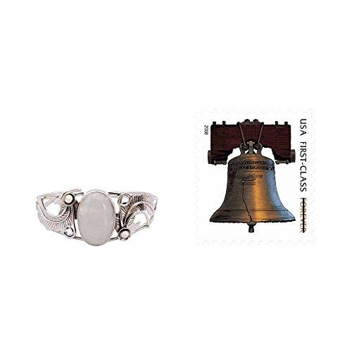 NOVICA Moonstone - Rainbow .925 Sterling Silver Cuff Bracelet 'Eternal Glow' by NOVICA (Image #2)