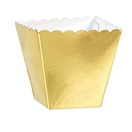 Amscan Oro Festoneado Favor Cajas