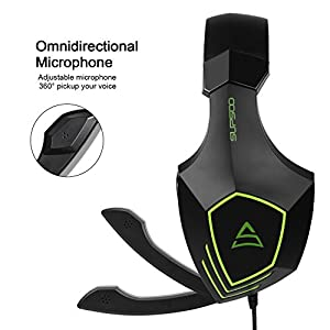 Supsoo G820 Gaming Headset Headphone 3.5mm Wired Over-ear with Mic Volume Control for PC/XboxOne/PS4