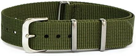 CASSIS[カシス] ナイロン 時計ベルト TYPE NATO タイプナトー 16mm グリーン 交換用工具付き #141.601S072016