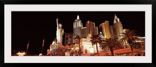greatBIGcanvas Low Angle View of A Hotel New York Hotel The Strip Las Vegas Nevada Photographic Print with black Frame, 48
